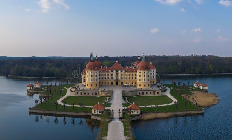 莫里茨堡城堡德国 免版税库存照片