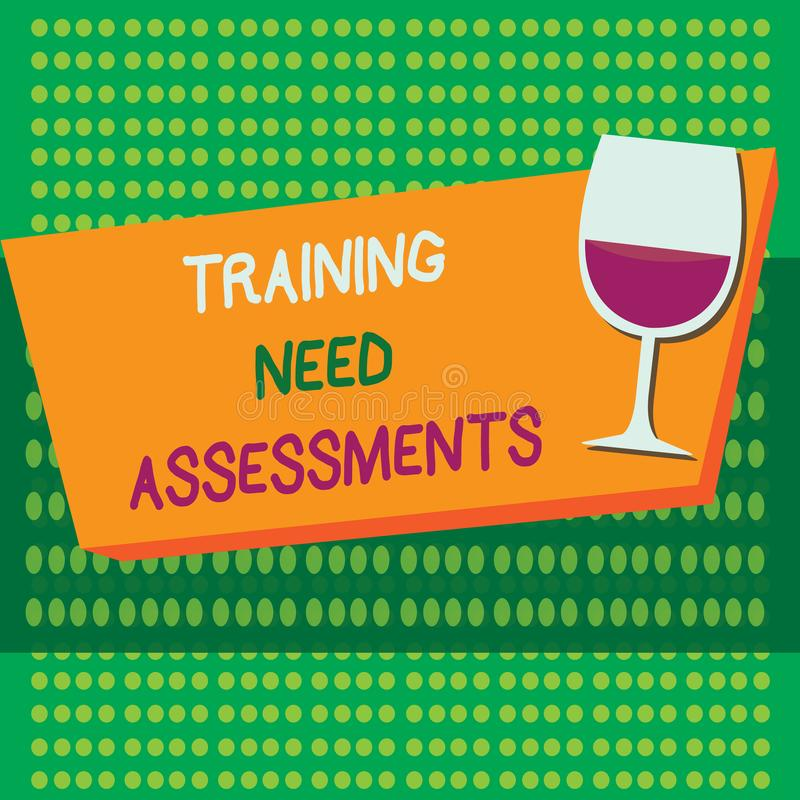 显示训练需要评估的文字笔记 企业照片陈列确定锻炼要求填装 库存例证