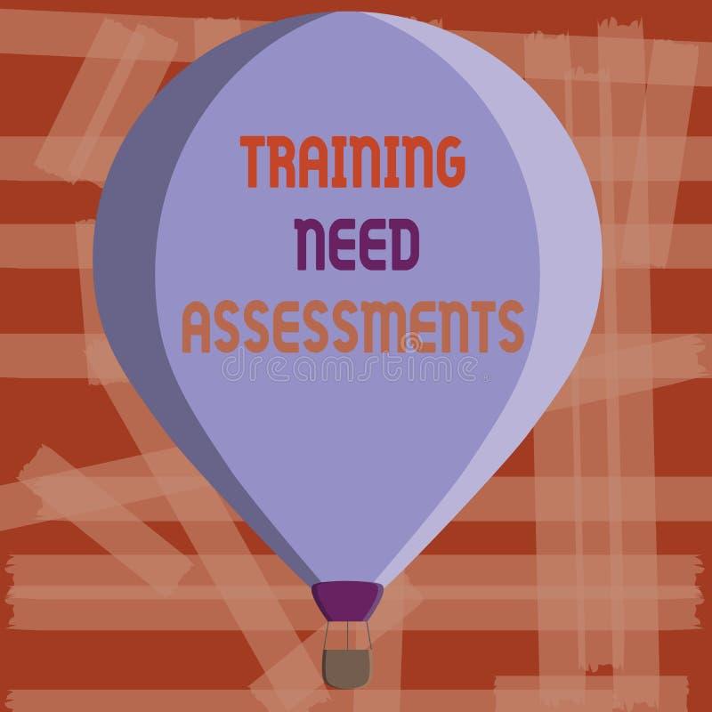 显示训练需要评估的文字笔记 企业照片陈列确定锻炼要求填装 向量例证