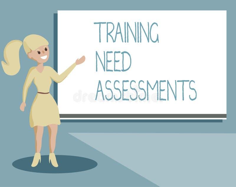 显示训练需要评估的文字笔记 企业照片陈列确定锻炼要求填装 皇族释放例证