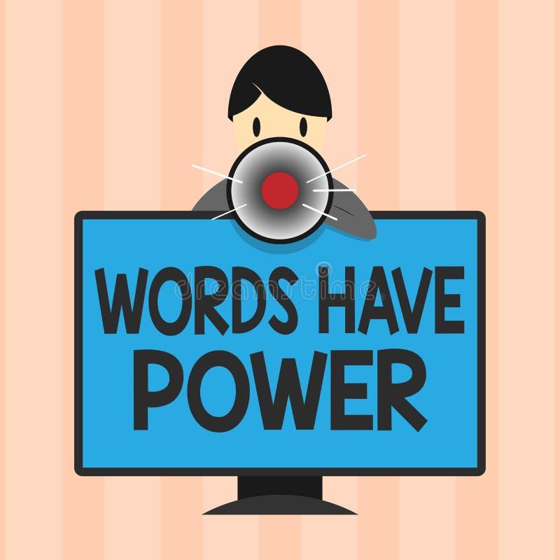 显示词的文本标志有力量 概念性照片能量能力愈合更加后面的帮助贬低并且欺凌 皇族释放例证