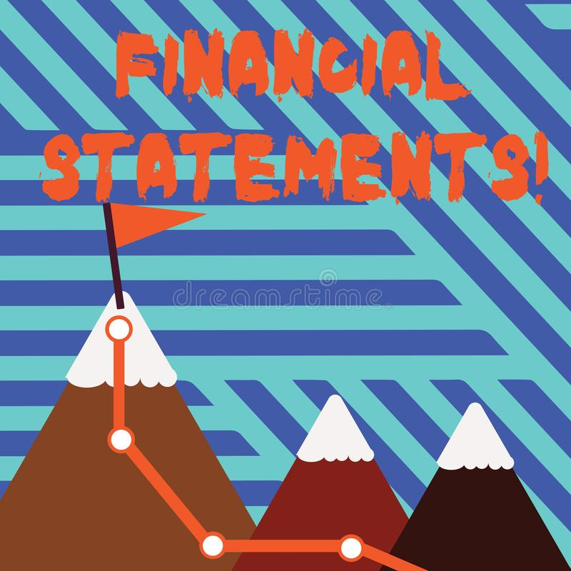 显示财政技术的概念性手文字 陈列企业的照片提供金融服务通过做 皇族释放例证