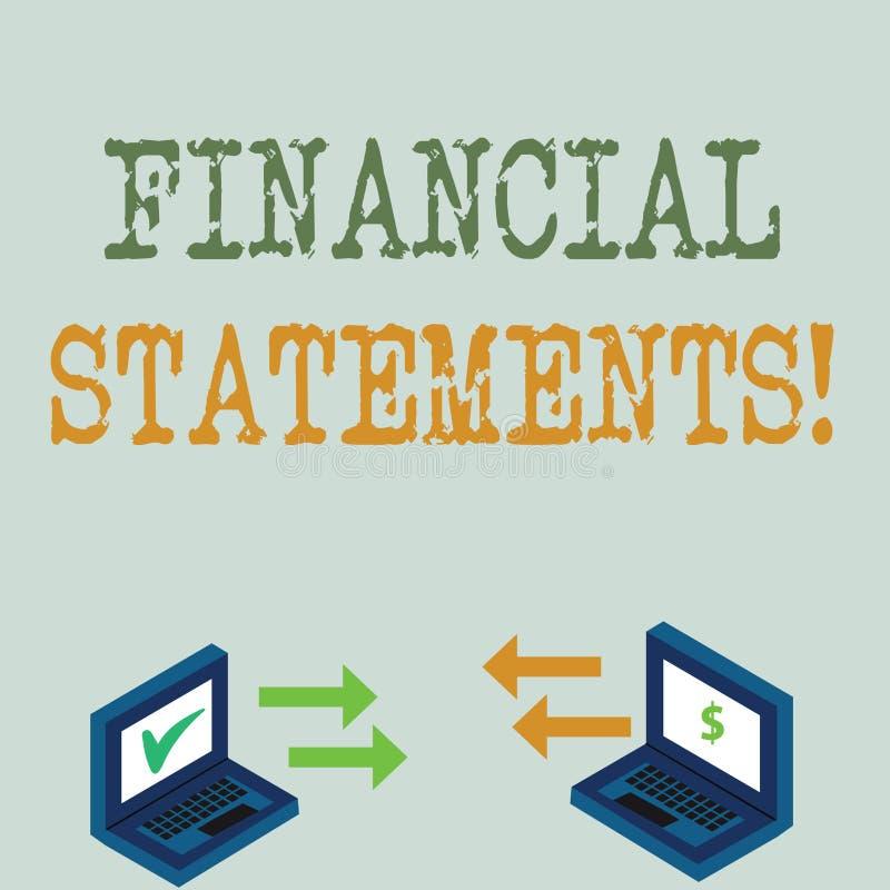 显示财政技术的概念性手文字 陈列企业的照片提供金融服务通过做 库存例证