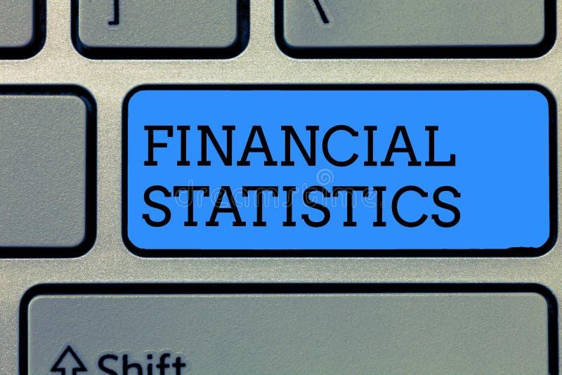 显示财政统计的文本标志 概念性股票照片全套和公司的流程数据 库存照片