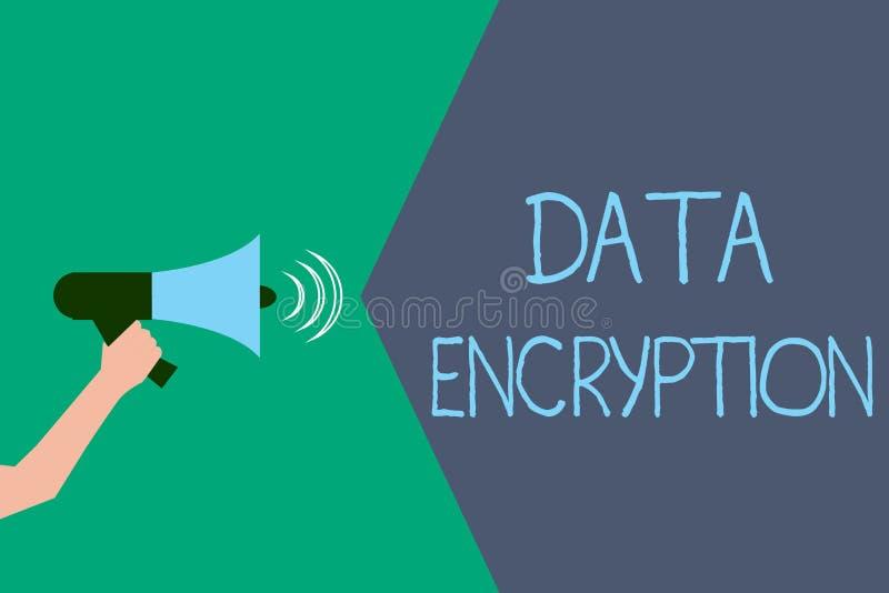 显示资料加密的文字笔记 陈列加密的电子数据的企业照片相称关键算法 皇族释放例证