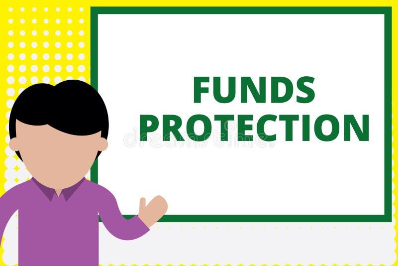 显示资金保护的文本标志 概念性照片许诺回归部分最初投资给投资者 年轻人 库存例证