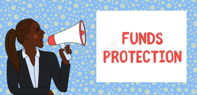 显示资金保护的文本标志 概念性照片许诺回归部分最初投资给投资者 r 向量例证