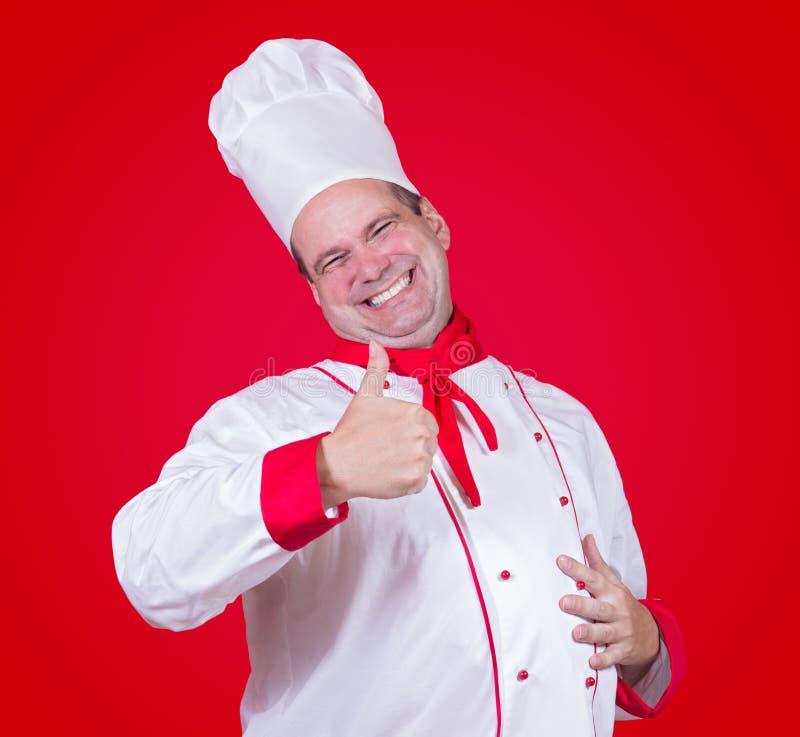 显示赞许的主厨 库存照片