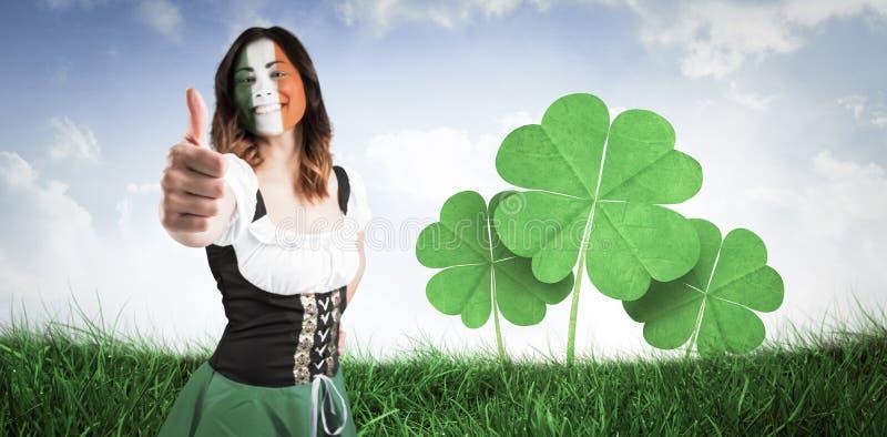 显示赞许的爱尔兰女孩的综合图象 图库摄影