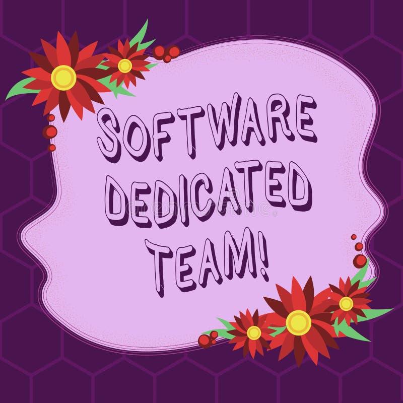 显示软件热忱的队的概念性手文字 对应用程序和网的企业照片陈列的企业方法 向量例证