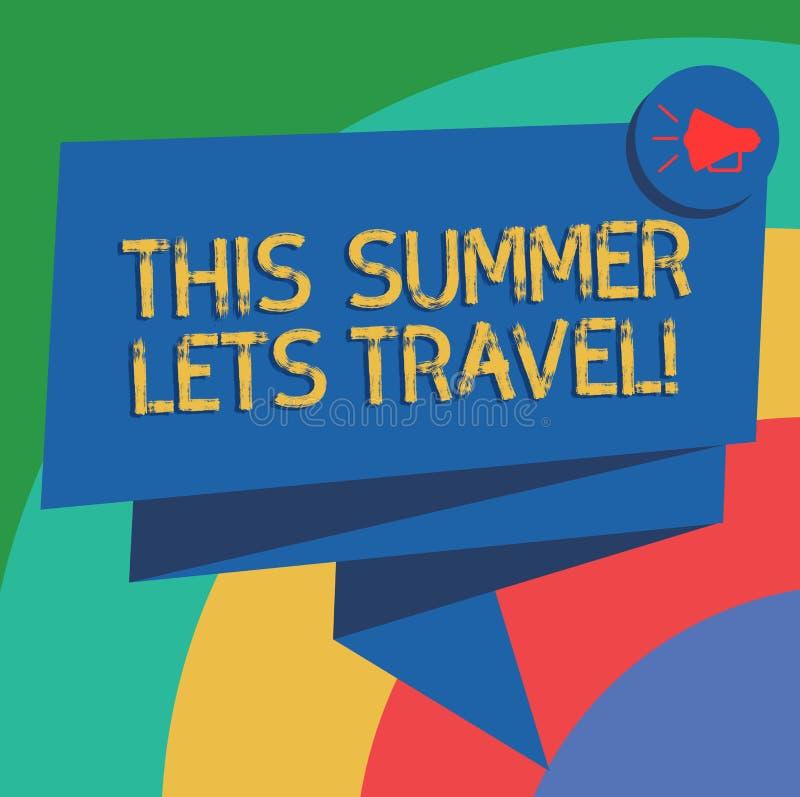 显示这个夏天的概念性手文字让旅行 企业照片文本邀请绊倒在度假晴朗的 库存例证