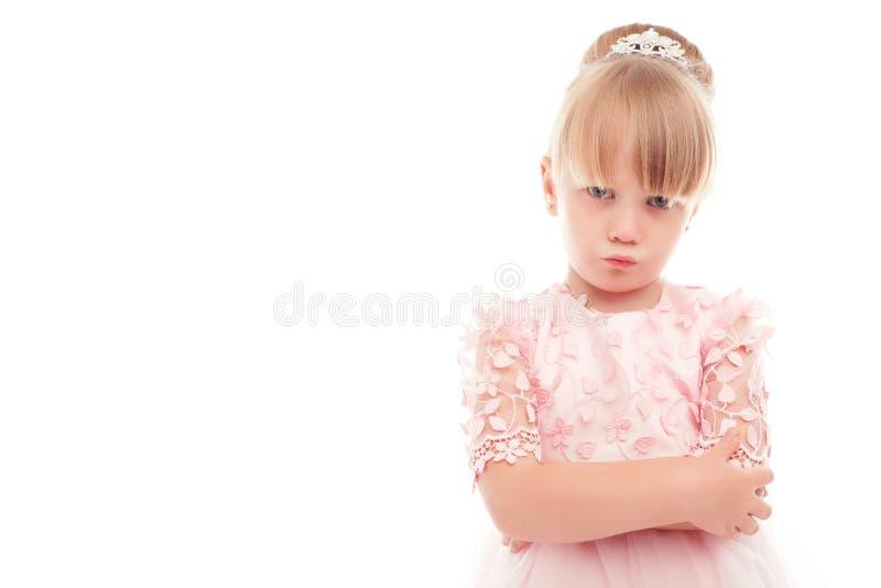 显示进攻的小女孩 库存图片