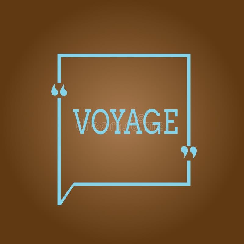 显示远航的概念性手文字 陈列长的旅途的企业照片介入旅行由海或在空间 皇族释放例证
