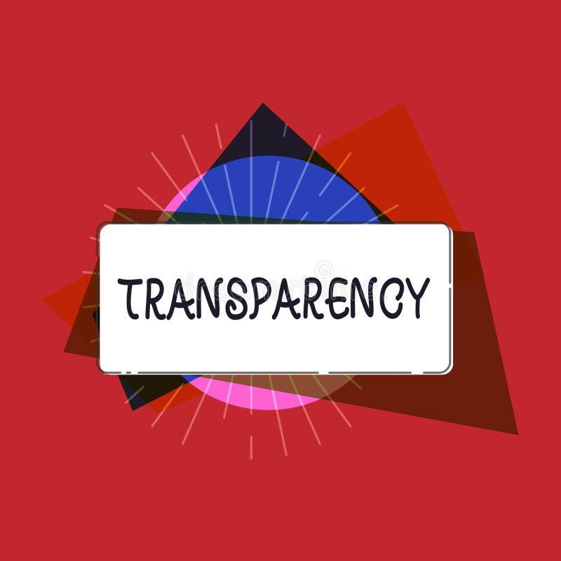 显示透明度的文字笔记 是企业照片陈列的情况透明清楚明显显然的 向量例证