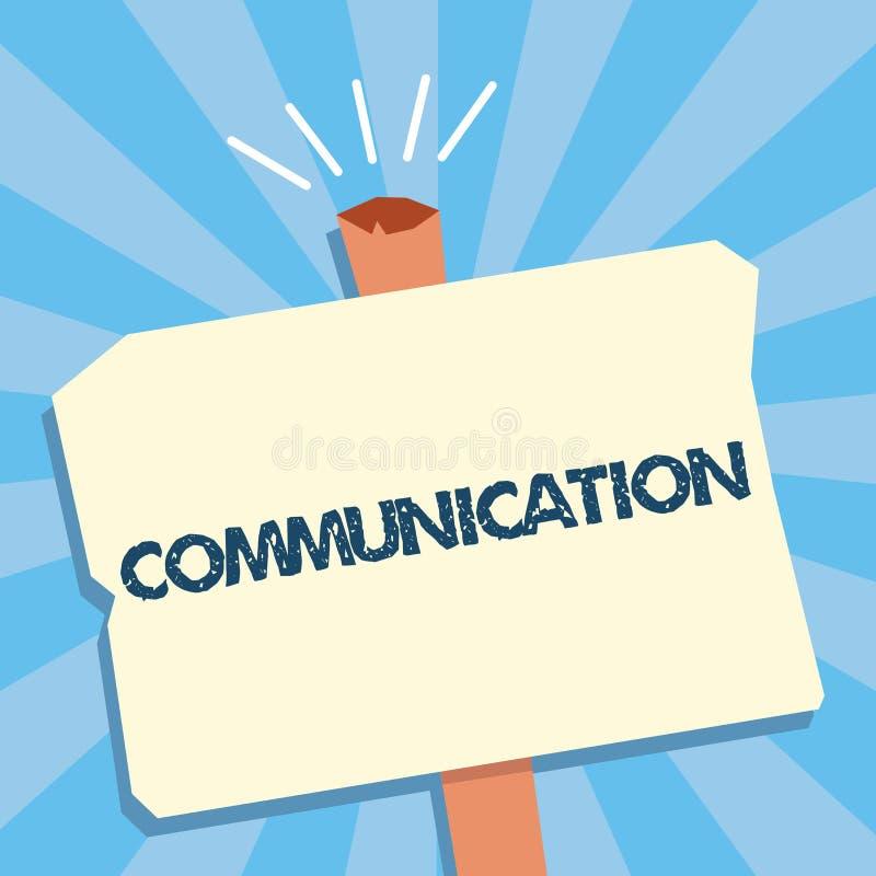 显示通信的文字笔记 企业照片陈列的给予或交换信息通过讲文字 库存例证