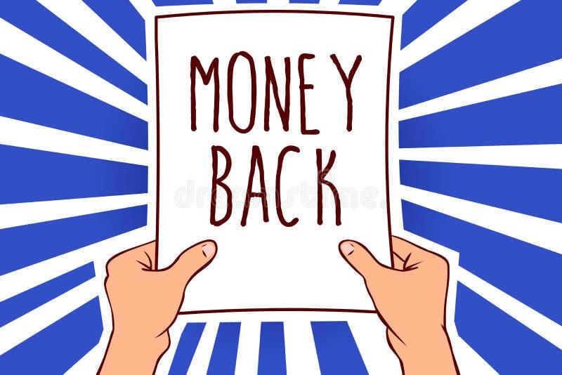 显示金钱后面的文字笔记 企业照片陈列得到什么您支付了以换取瑕疵或问题在产品人holdin 向量例证