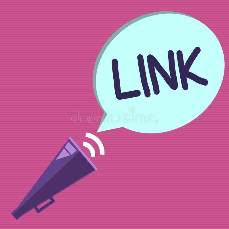 显示链接的概念性手文字 企业照片在路线链网络的文本圈在网页连接之间的 皇族释放例证