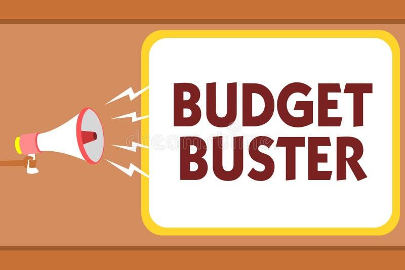 显示预算钉头切断机的文字笔记 陈列无忧无虑的消费的企业照片讲价过度花费人的多余的购买ho 皇族释放例证