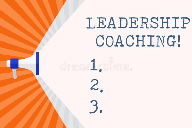 显示领导教练的文本标志 概念性照片修造领导s的被赋予个性的过程是能力 皇族释放例证