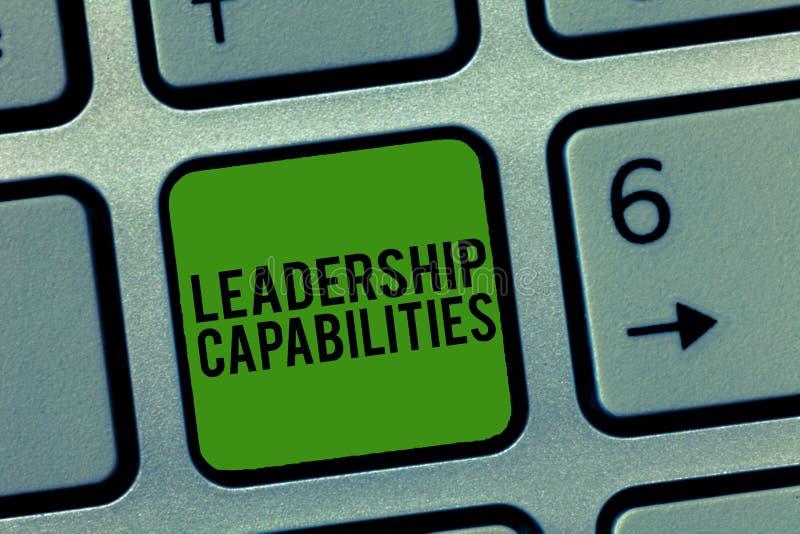 显示领导能力的文字笔记 企业照片陈列的套表现期望领导 图库摄影