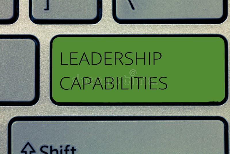 显示领导能力的文字笔记 企业照片陈列的套表现期望领导 库存照片