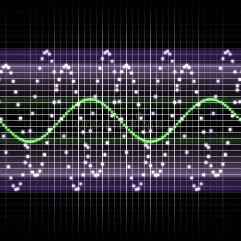 显示频率 向量例证