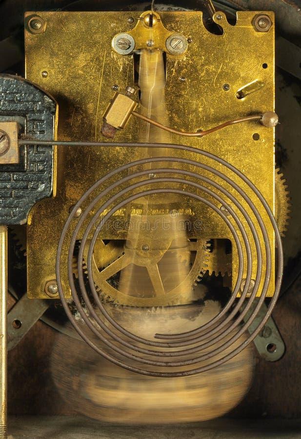 显示鸣响的机制的时钟 免版税图库摄影