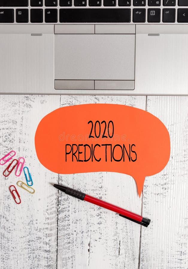显示2020个预言的文本标志 概念性照片明细表您感觉那去发生,不用开放的证明 免版税库存图片