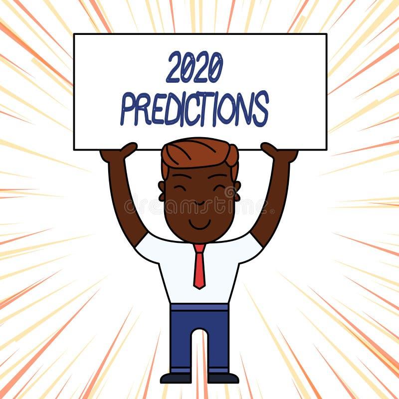 显示2020个预言的概念性手文字 企业照片陈列的明细表您感觉那去发生 库存例证