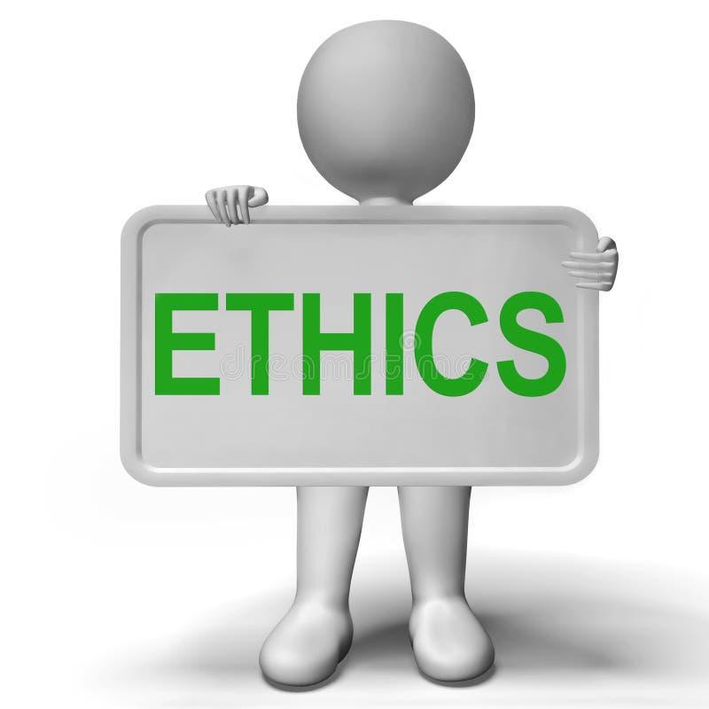 显示价值思想体系和原则的概念标志 库存例证