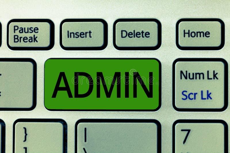 显示Admin的文本标志 政府的人行政部门的概念性照片官员负责任 库存照片