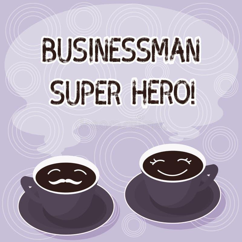 显示Businessanalysis特级英雄的文本标志 概念性照片假设事务的风险或企业套杯茶碟 皇族释放例证