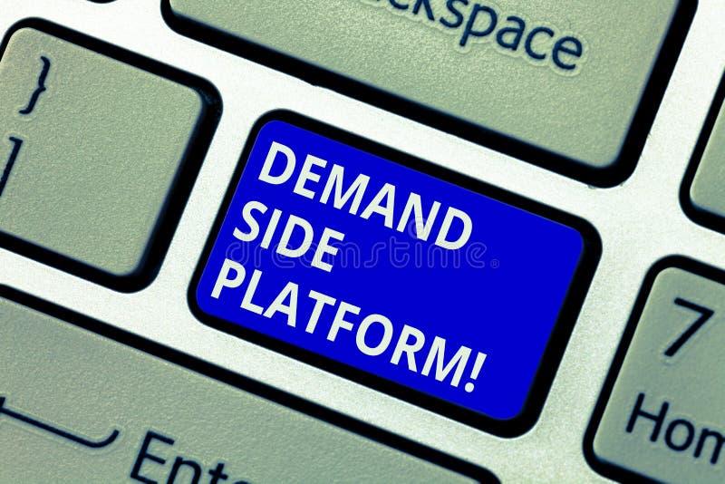 显示Deanalysisd旁边平台的文本标志 为纲领性广告购买键盘使用的概念性照片软件 免版税库存照片