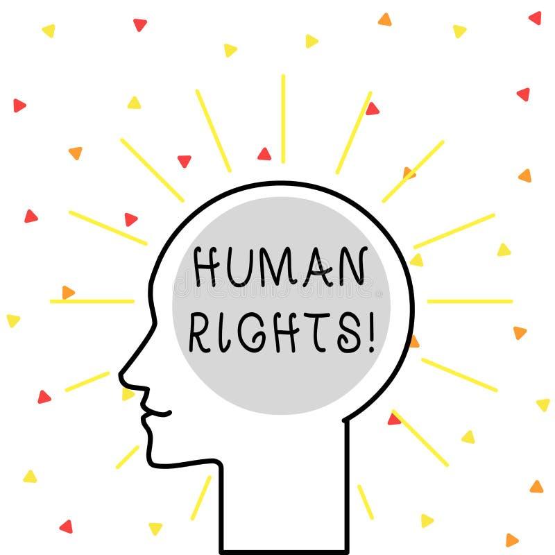 显示Huanalysis权利的概念性手文字 陈列斗争的平等的企业照片为您的权利 皇族释放例证