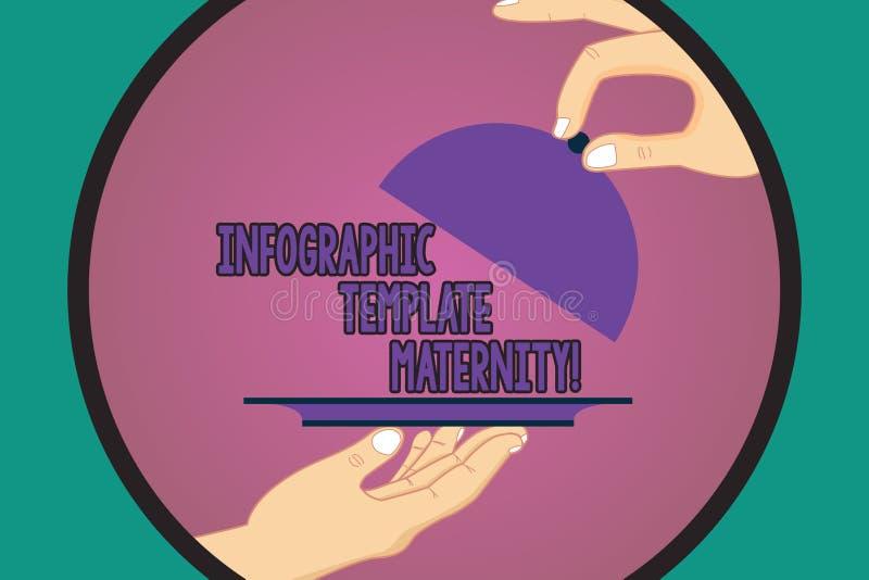 显示Infographic模板母道的文本标志 概念性照片母性元素、材料和指南胡 库存例证