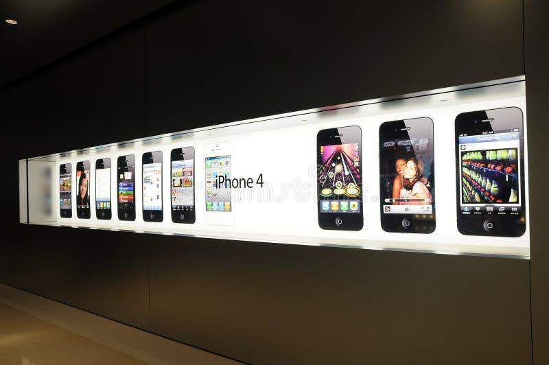显示iphone视窗 免版税库存图片