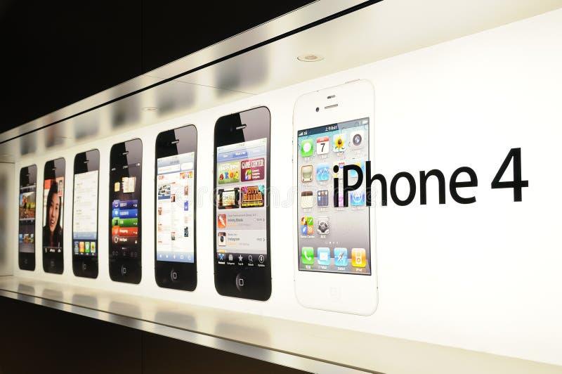 显示iphone视窗 库存图片