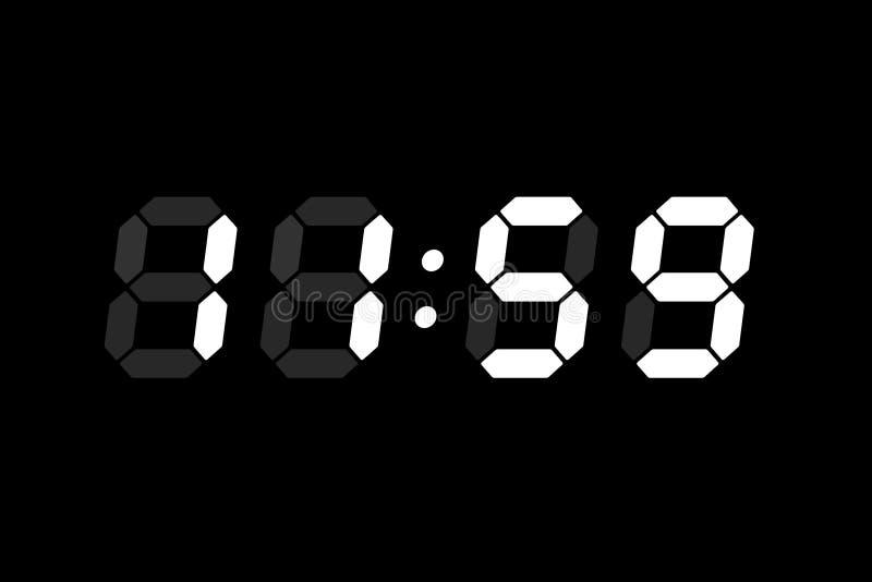 显示lcd时间 库存例证