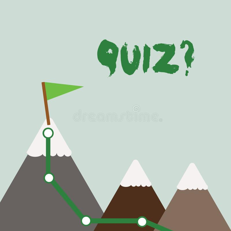 显示Quizquestion的文本标志 概念性定量您的知识的照片短的测试评估考试三 向量例证