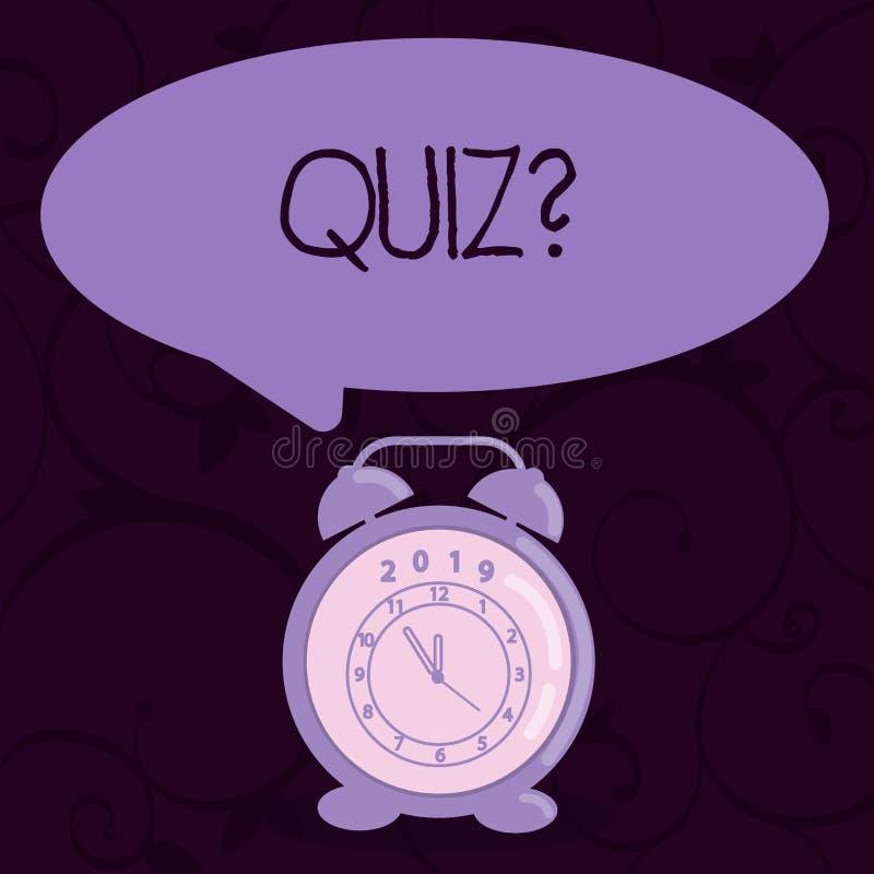 显示Quizquestion的概念性手文字 企业照片文本短小测试定量您的评估考试 向量例证