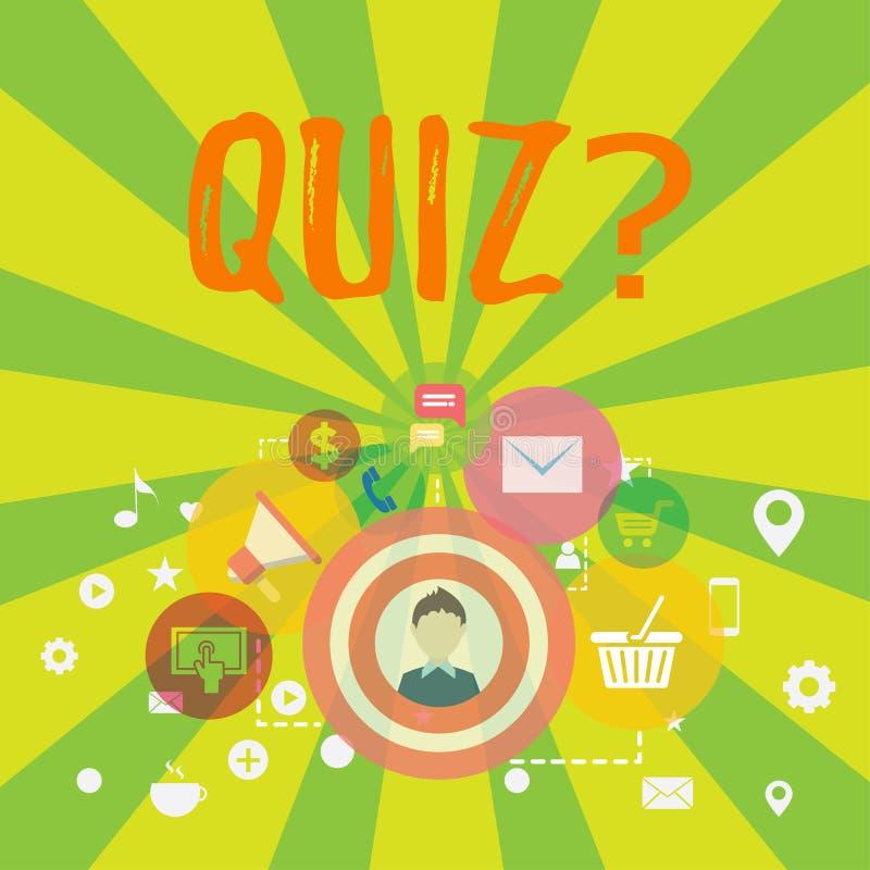 显示Quizquestion的概念性手文字 企业照片文本短小测试评估考试定量您 向量例证