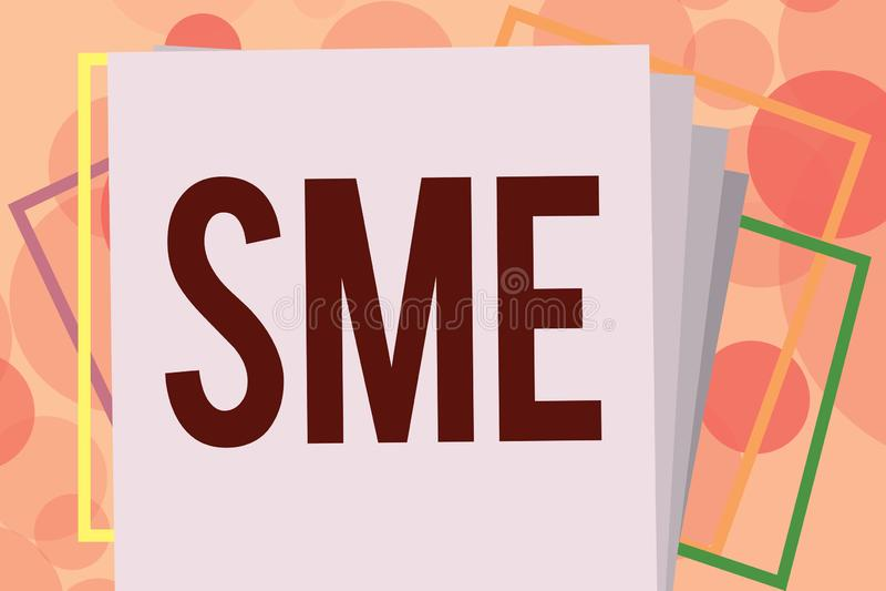 显示Sme的文本标志 与不大于500位雇员小中等企业的概念性照片公司 向量例证