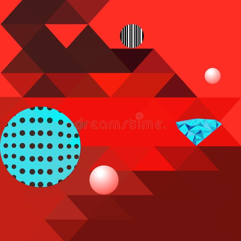显著地几何形状的抽象多彩多姿的样式 皇族释放例证