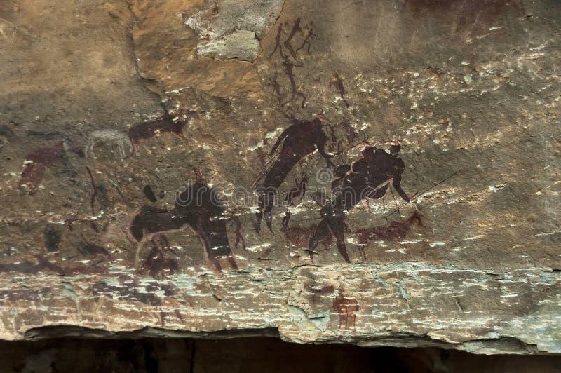 晃动图画长的过去圣人民(丛林居民)巨人城堡洞的 免版税库存图片