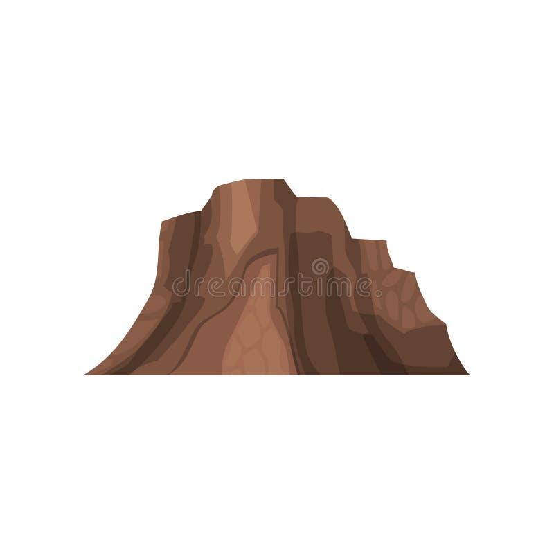 晃动山,室外设计元素,自然风景,多山地质传染媒介例证 皇族释放例证