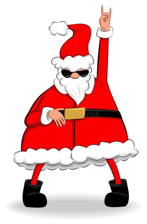 晃动的圣诞老人 向量例证