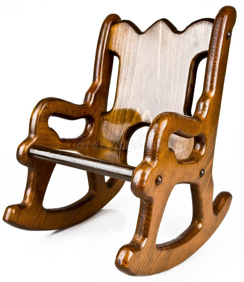 晃动s实体木材的椅子子项 免版税库存图片