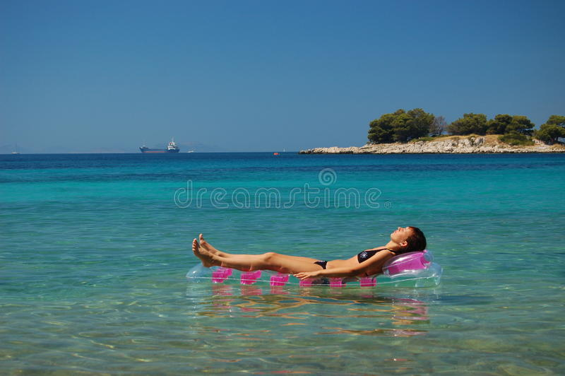 晒日光浴的克罗地亚 免版税库存图片
