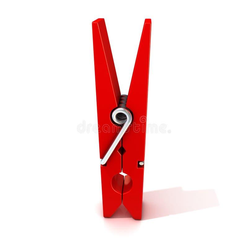 晒衣夹红色 闭合的身分 皇族释放例证