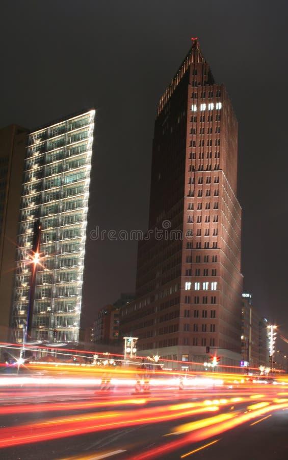 晚上业务量 免版税图库摄影